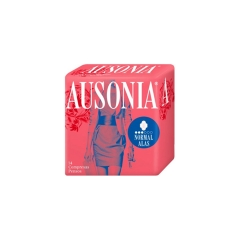 Ausonia Air Dry Normal Compresses With Wings 14Un