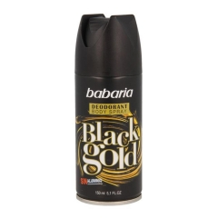 Babaria Black Gold deodorant +50 Ml Gratis 200Ml