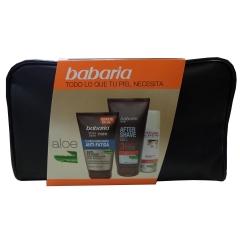 Babaria Vital Skin Men fluid  moisturizing Anti-Fatigue 100Ml + After Shave Gel 150Ml + shaving foam +  makeup bag 1U.