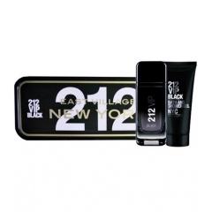 Carolina Herrera 212 Vip Black Eau De Parfum For Men 100Ml  + Shower Gel 100Ml + Miniatura 10Ml