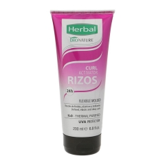 Herbal Bionature Curl Activador De Rizos Flexible Molded 200Ml