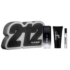 Carolina Herrera 212 Vip Black Eau De Parfum 100Un  + Gel De Bano 100Ml + Miniatura 1U