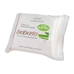 Babaria Aloe Vera  make-up remover wipes 25Un