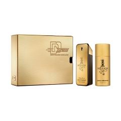 Paco Rabanne 1 Million Eau De Toilette 100Ml + Deodorante 150Ml  + Miniatura 10Ml