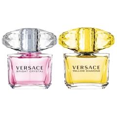 Versace Duo Pacalvin Klein Ck Bright Crystal Edt 30+ Yellow Diamond 30 Ml Vapo